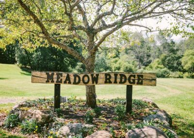 Meadow Ridge Events Entrance